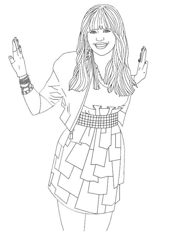 hannah montana coloring pages # 7
