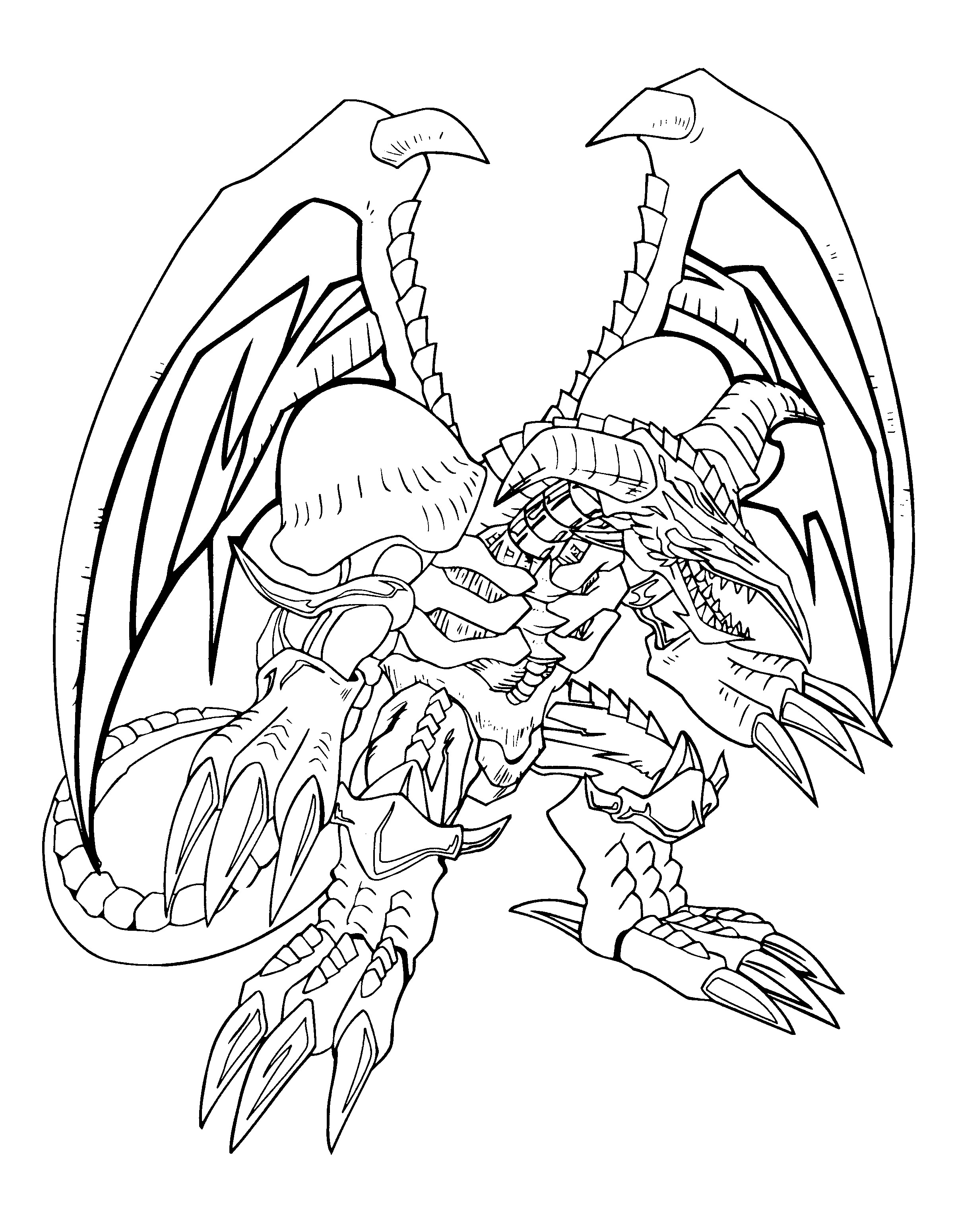 Yugioh Monster Coloring Pages Coloring Page
