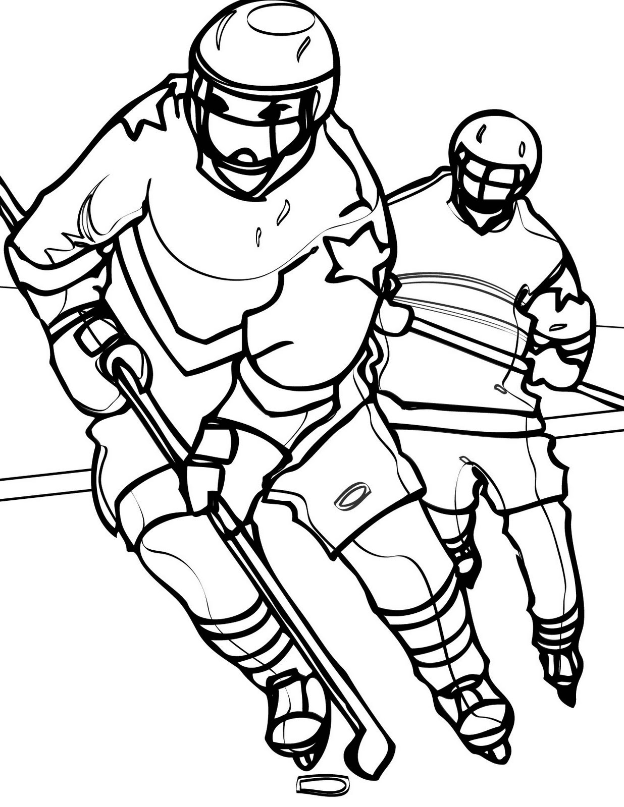 Hockey Color Pages