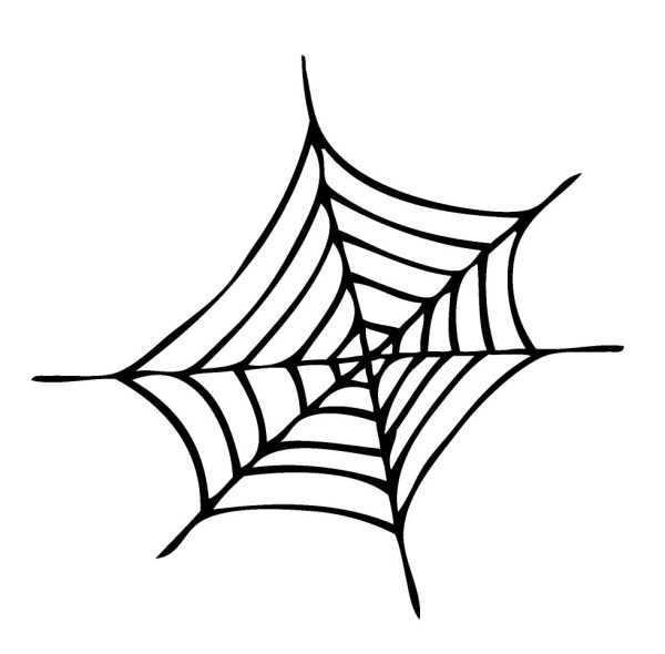 spider web coloring page # 12