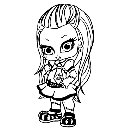 baby monster high coloring pages # 26