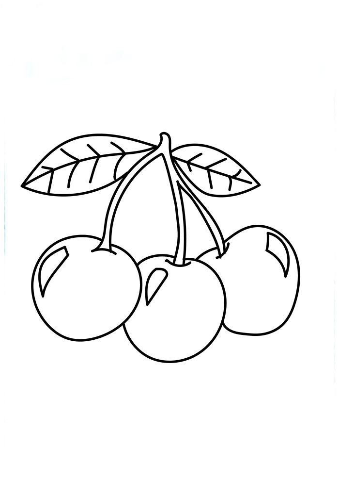 Cherries coloring page free printable coloring pages, i love mom coloring page