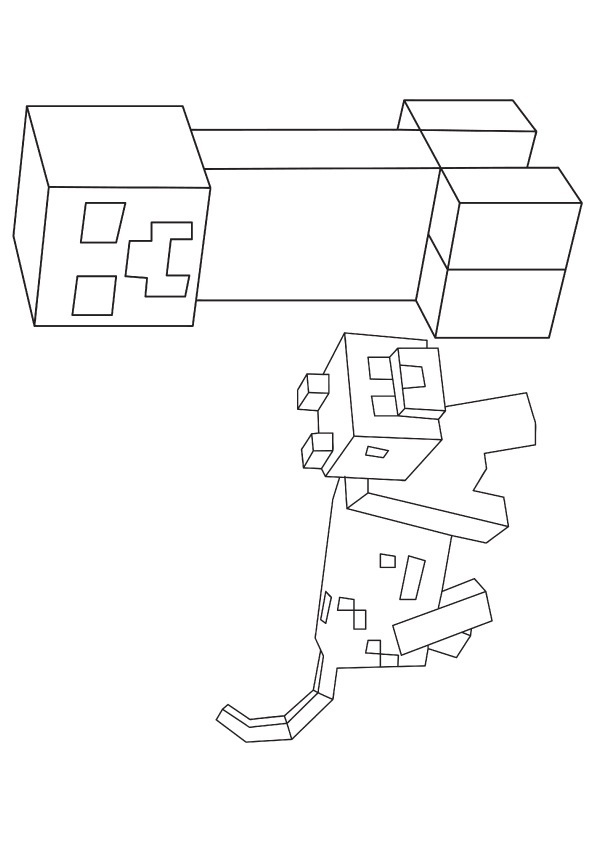 minecraft printable coloring pages # 51
