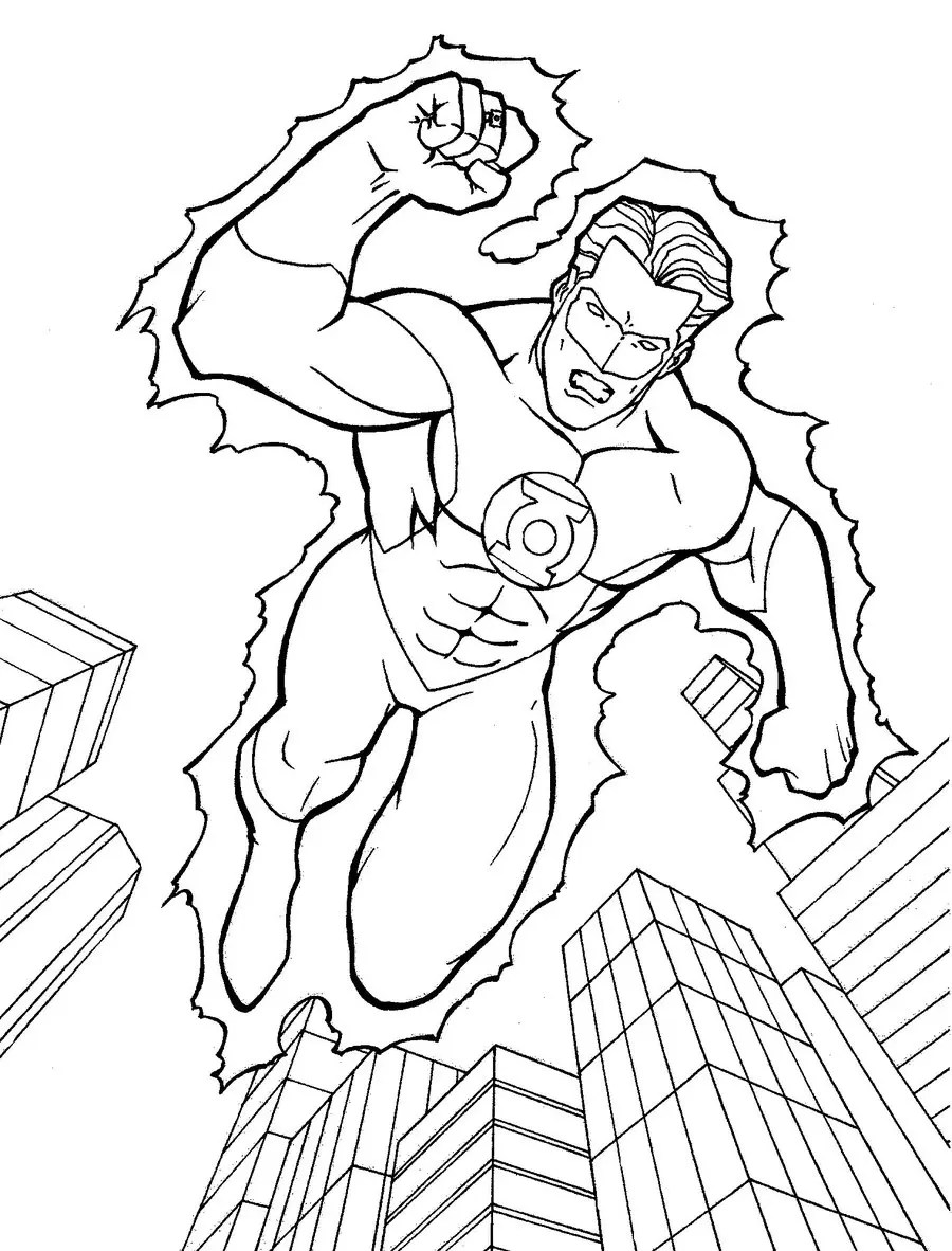 green lantern coloring pages free coloring pages download xsibe