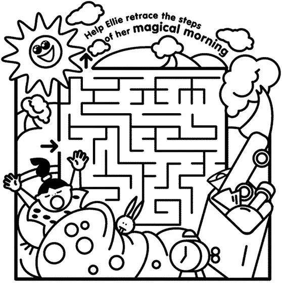 maze coloring pages # 5