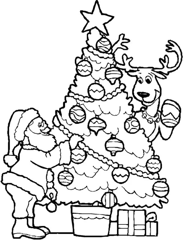 coloring pages christmas tree # 3