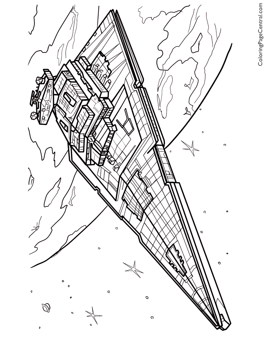 Star Wars Star Destroyer Coloring Page Coloring Page Central