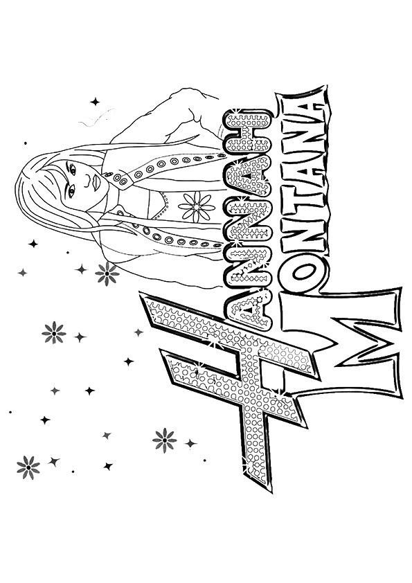 hannah montana coloring pages # 11