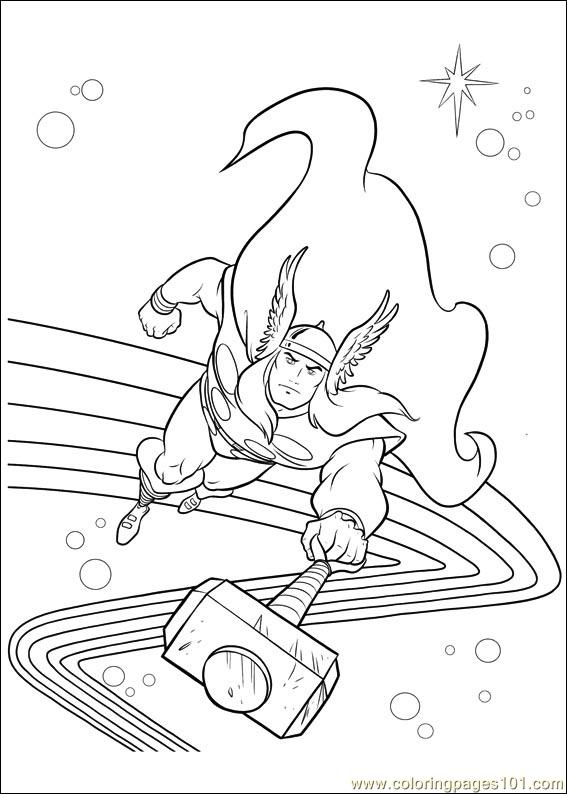 thor coloring page # 33