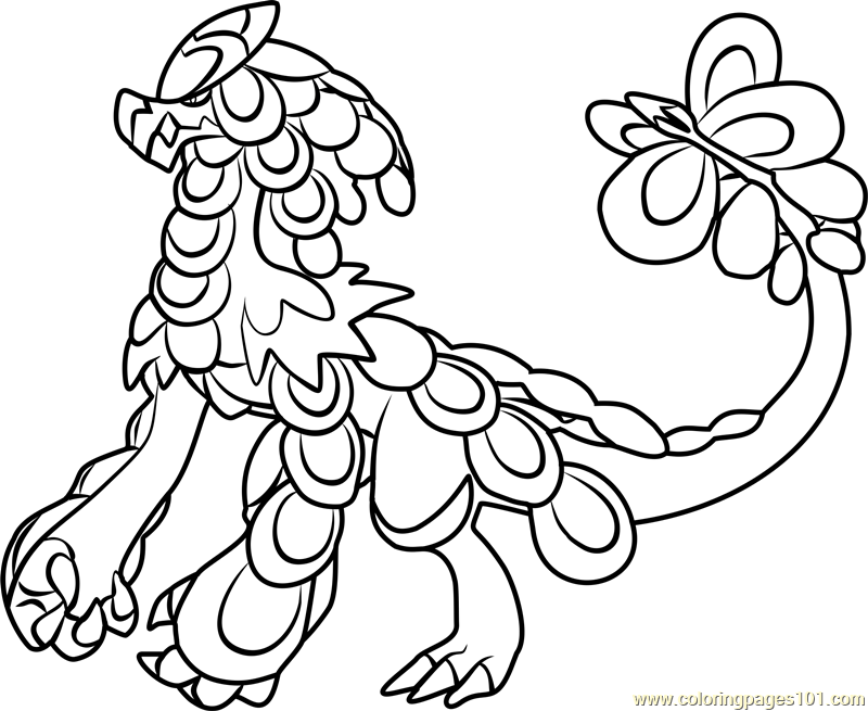 Alola Pokemon Legendary Coloring