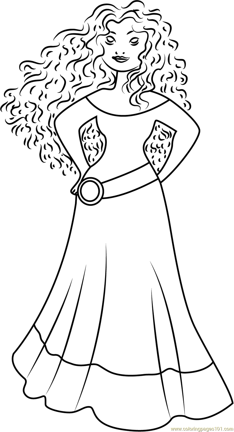 Princess Merida Coloring Page Free Brave Coloring Pages