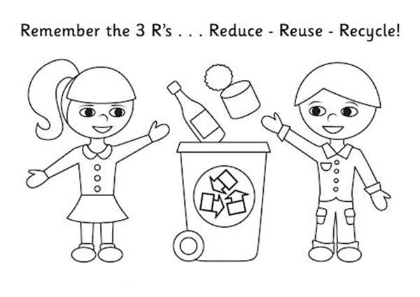 and recycle coloring sheets activity