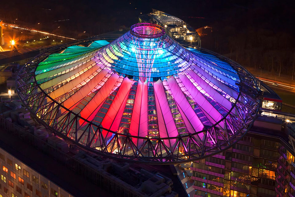 Sony Center Berlin Germany Color Kinetics