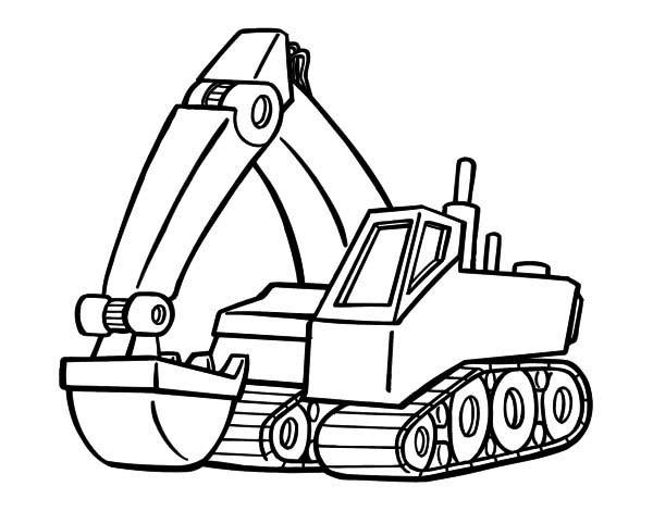 Gambar Menggambar Beko Excavator Pc Youtube Gambar Mewarnai Sapawarga