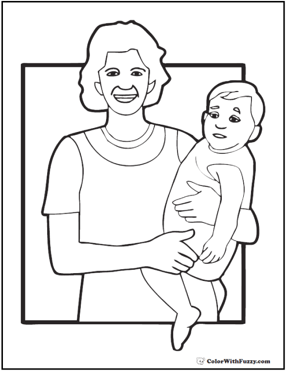 Two Sisters Coloring Pages