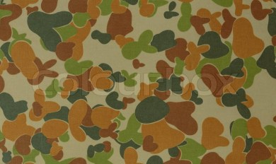 Digital Woodland Camouflage Fabric Wooden Thing