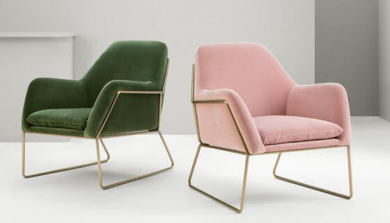 Pink Velvet Armchair Uk