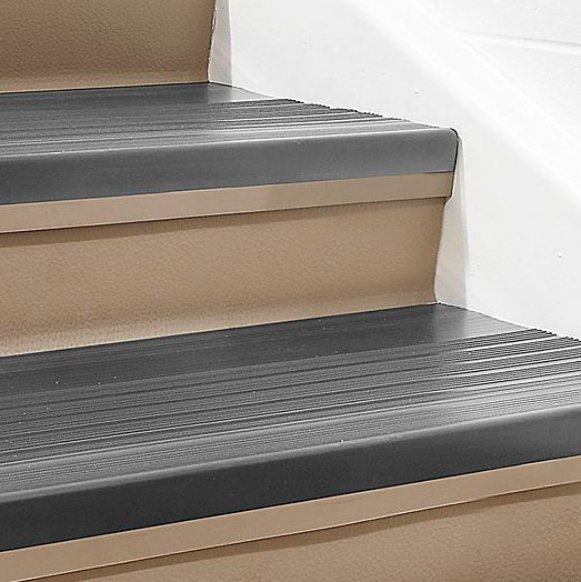 Roppe Ribbed Vinyl Stair Tread Commercial Mats Rubber | Heavy Duty Stair Carpet | Stair Runners | Stair Treads Carpet | Stair Risers | Rug Gripper | Carpet Protector
