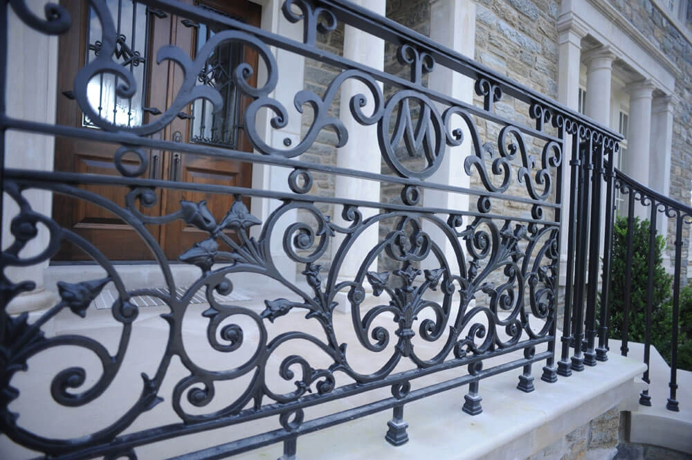 Exterior Railings Compass Iron Works | Exterior Wood Handrail Designs | Exterior Railing Iron | Style Stainless Steel Wood | Wooden | Contemporary Wood | Modern