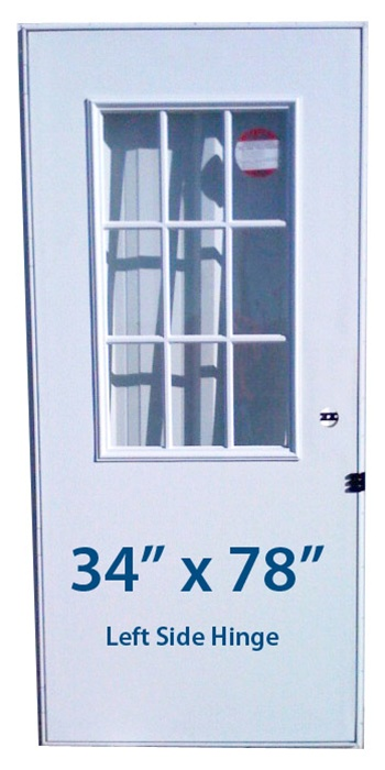 Mobile Home Cottage Door 34x78 Lh Left Hand Hinge Doors