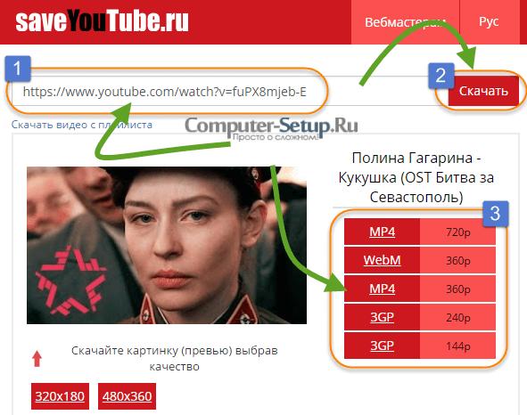 Saveyoutube - Download video gennem tjenesten med valg af kvalitet