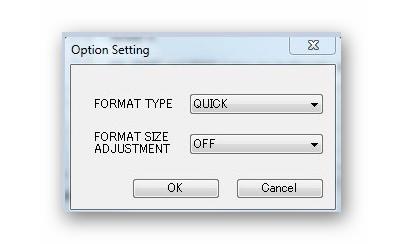 Opções de seção