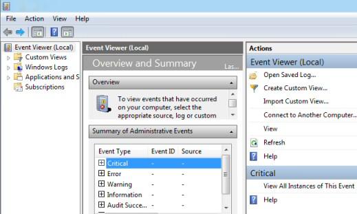 Security Event Logs Windows 7