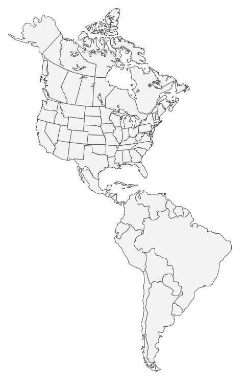 Colorless Map Canada