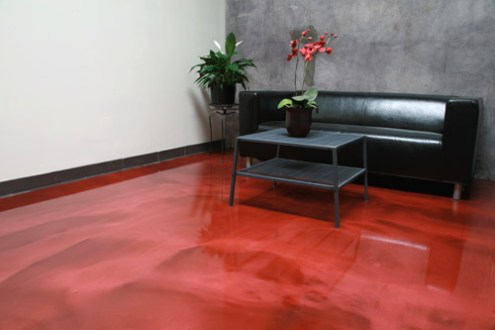 The Growing Popularity of Metallic Coatings   Concrete Decor The showroom at Westcoat Specialty Coating Systems  headquarters in San  Diego features the Liquid Dazzle