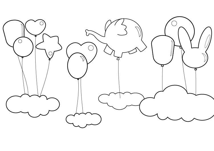 Dibujos Para Colorear Y Trazar: Figuras De Animales Para Trazar Y Recortar