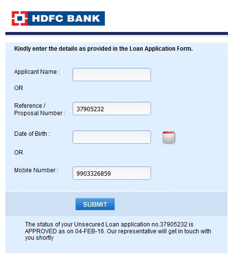 Personal Bank Eligibility Loan Hdfc