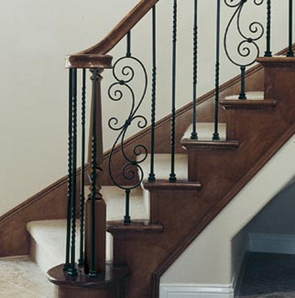 Plywood Oak Maple Stair Treads Spindles Iron Rods Toronto | Iron Spindles For Staircase | Simple | Modern 2019 Staircase | Farmhouse Style | Arched Metal | Basket