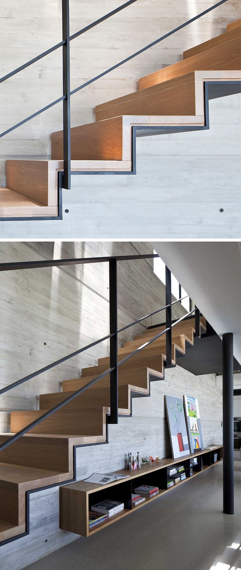 18 Examples Of Stair Details To Inspire You | Wood Stairs Over Concrete | Stair Stringers | Composite Decking | Cement | Front Porch | Stoop