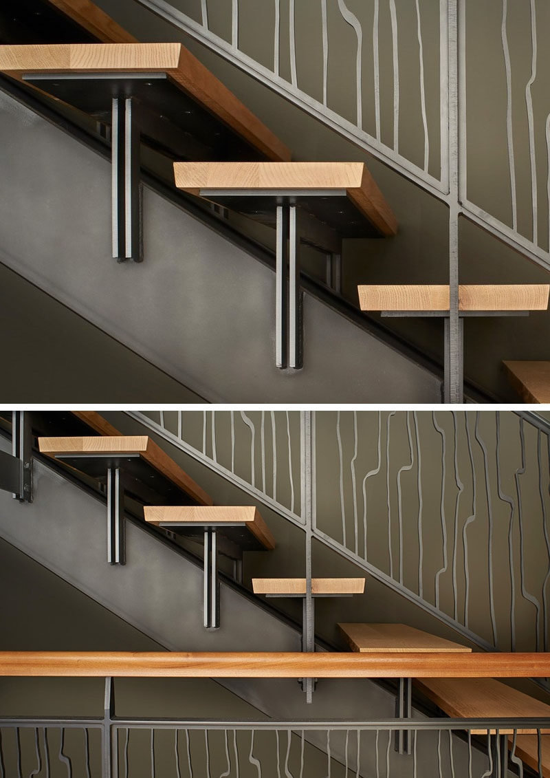 18 Examples Of Stair Details To Inspire You   Steel And Timber Stairs   90 Degree External   Architectural   Modern   Contemporary   House