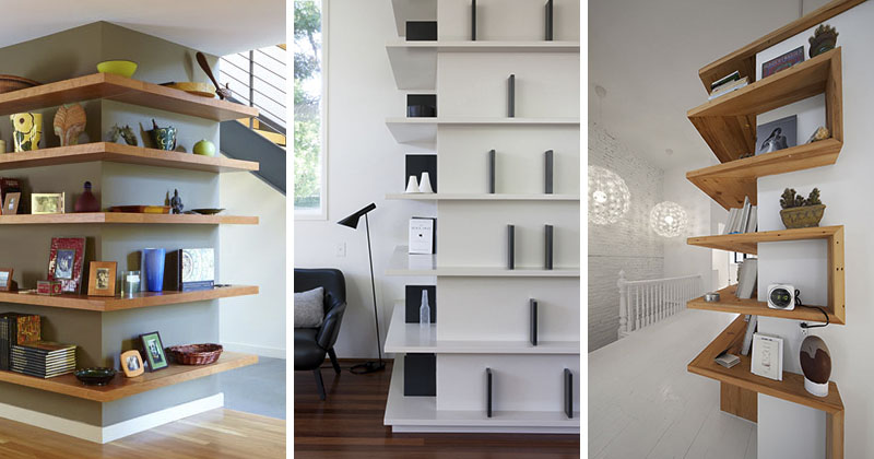 Shelving Design Idea Shelves That Wrap Around Corners