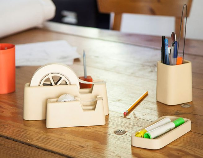 40 Gift Ideas For Architects And Interior Designers   CONTEMPORIST 40 Awesome Gift Ideas For Architects And Interior Designers    A minimalist  concrete desk set