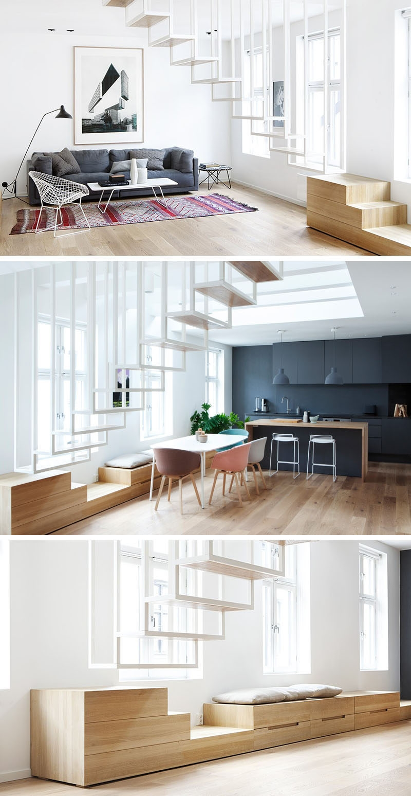 13 Stair Design Ideas For Small Spaces | Space Saving Staircases For Small Homes | Design | Spiral Staircases | Staircase Design | Attic Ladder | Staircase Ideas
