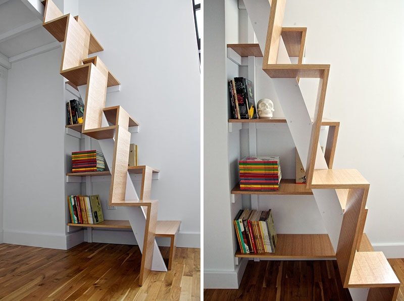 13 Stair Design Ideas For Small Spaces | Best Stairs For Small Spaces | Real Simple | Clever | Table Convert | Space Saving | Attic