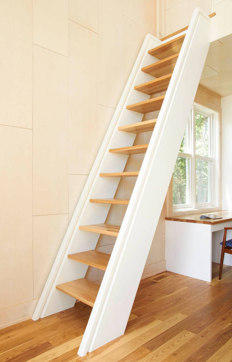 13 Stair Design Ideas For Small Spaces | Small Stairs For Small Spaces | Design | Small Apartment | Small Living Area | Compact | Tiny House