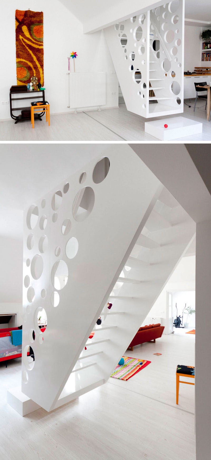 11 Creative Stair Railings That Are A Focal Point In These Modern | Modern Home Stair Railings | Single Moulding | Stainless | House | Wall Mounted | Mountain