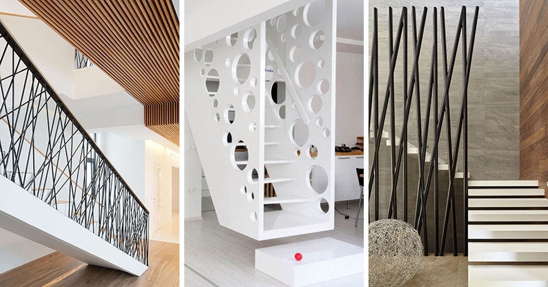 11 Creative Stair Railings That Are A Focal Point In These Modern | Modern Stair Rails Indoor | Beautiful | Unique Fancy Stair | Wooden | Industrial | Flat Bar