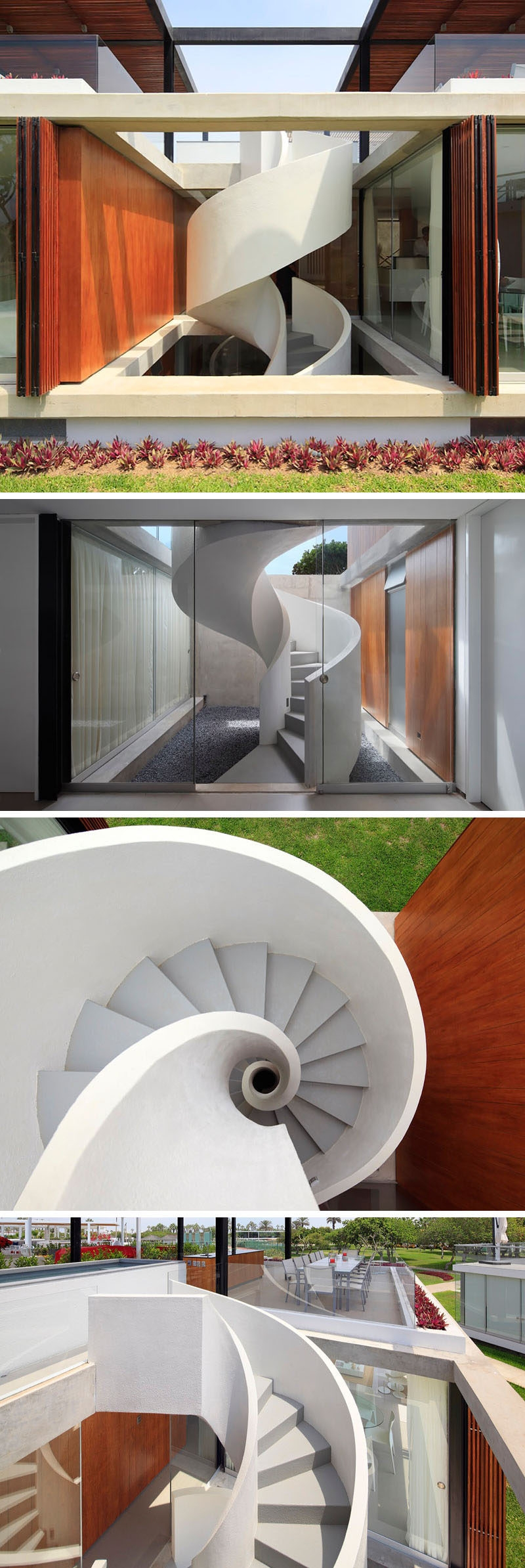 16 Modern Spiral Staircases Found In Homes Around The World   Stairs Design Outside Home   Single   Steel   Length   Contemporary Exterior   Stairway Outside