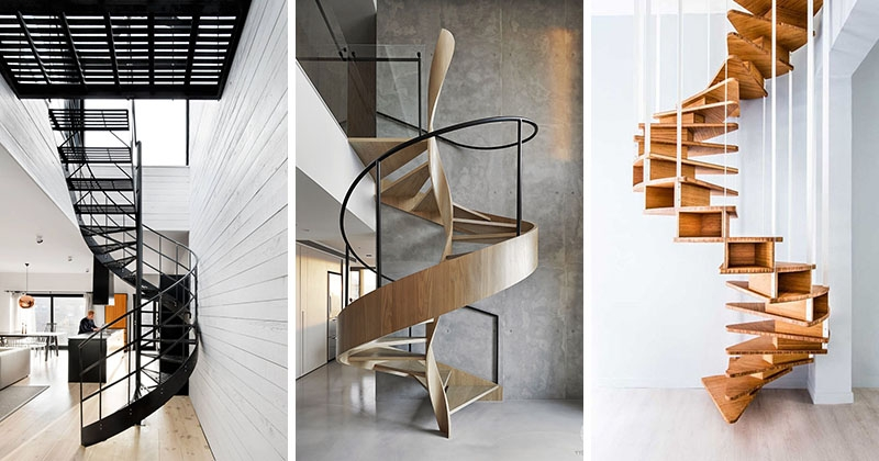 16 Modern Spiral Staircases Found In Homes Around The World | Used Metal Spiral Staircase For Sale | Stair Parts | Cast Iron | Foshan Demose | Wrought Iron | Stair Case