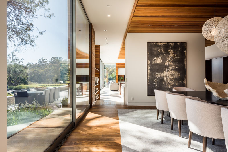 Contemporary Dining Room Floor To Ceiling Windows 170518