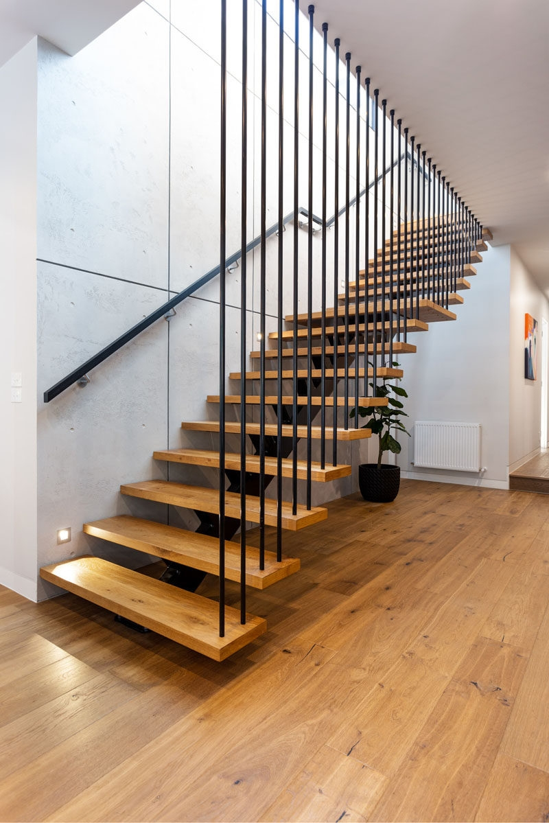The Thompson Home By Mcgann Architects Contemporist   Open Tread Staircase Designs
