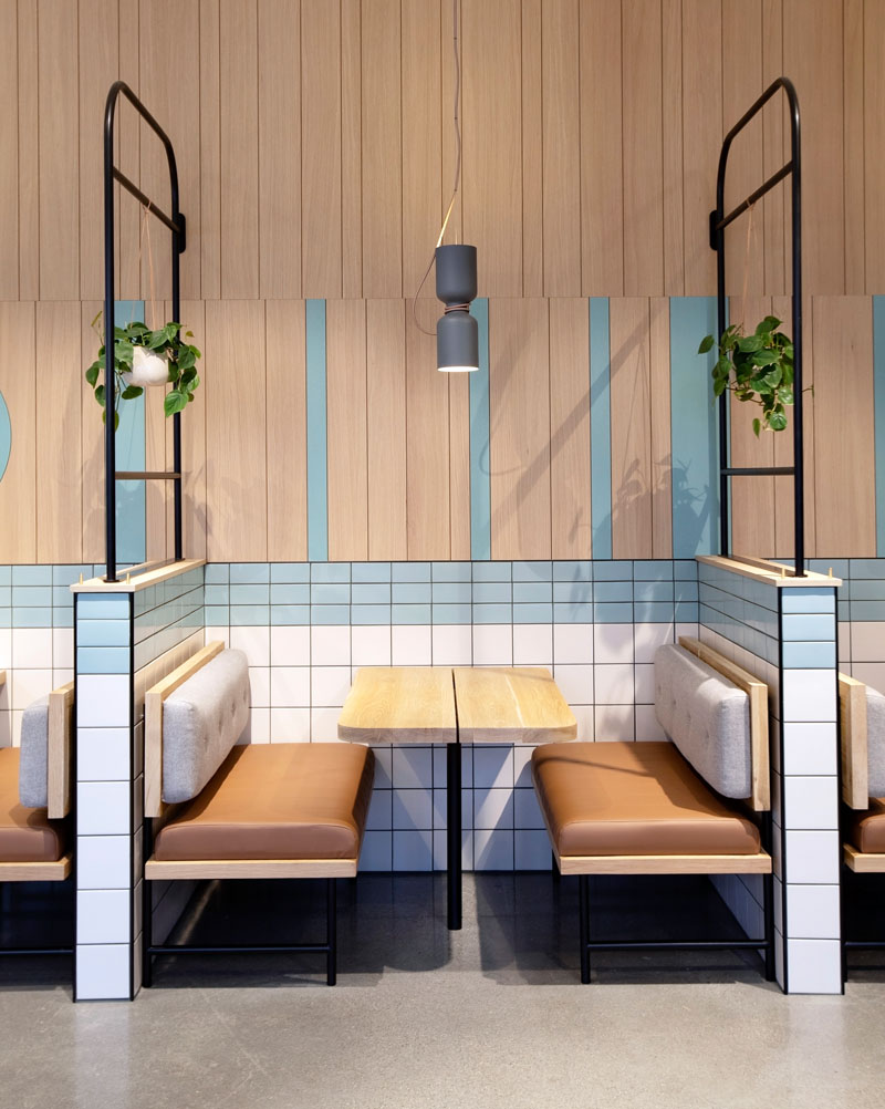 Modern Cafe Design Booth Seating 080819 1015 07 Contemporist