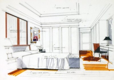The Five Elements of Interior Design     Contempo Space Blog Can you see how these five design elements apply to this sketch