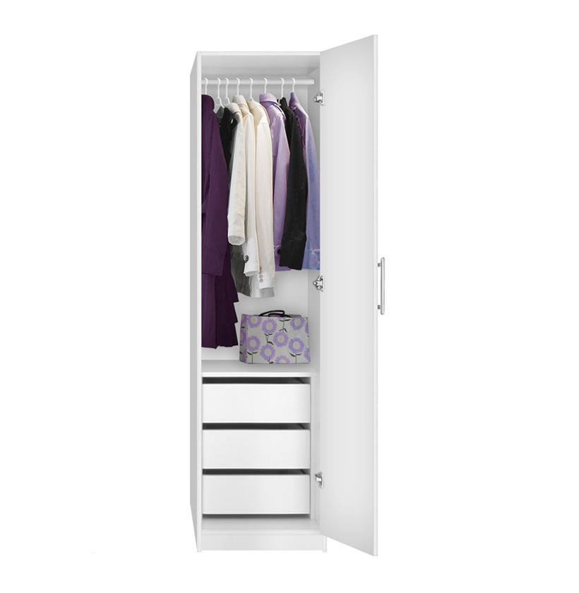 White Wardrobe And Drawers