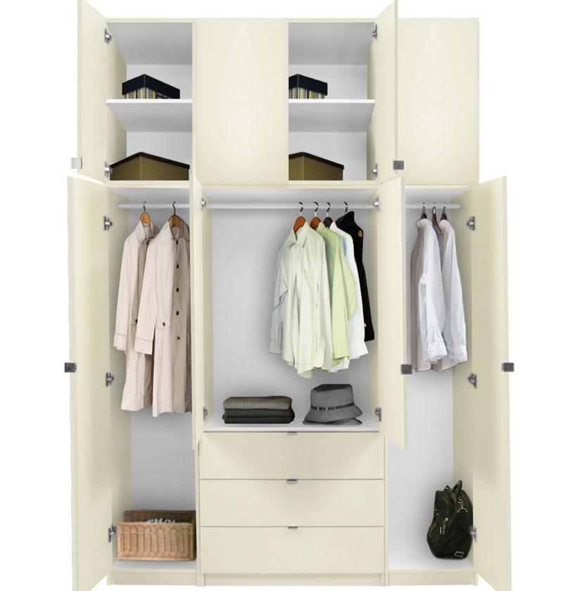 Tall White Wardrobe Drawers