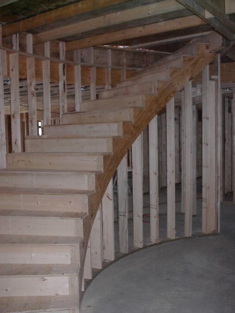 Stair Stringers Lam Plywood Vs 2X12 Framing Contractor Talk | Wood Stringers For Stairs | Metal | Double Stringer | Stair Tread | Framing Square | Risers